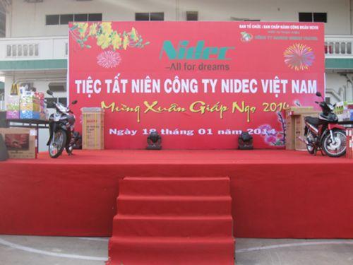 Tất niên công ty NIDEC Cho thuê âm thanh ánh sáng chất lượng tại TPHCM